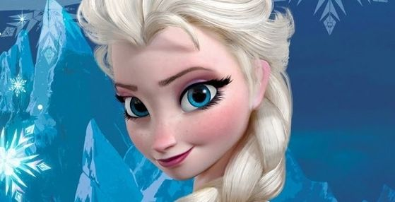 1. Elsa: Anna's older and more mature magical sister. To me Elsa is on a whole new level to any previous Disney princess, her platinum blonde loose braid, gorgeous blue eyes, lightly freckled face and gorgeous ice dress makes her the most beautiful Disney
