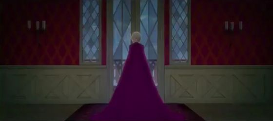 Elsa turned the doorknob and opened the door.
