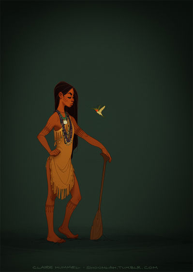 Oh yeah, and this is how Pocahontas should have looked. meer age-appropriate and historically accurate.