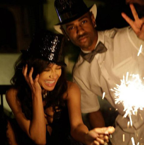 Big Sean with Naya, they are so perfect together <3