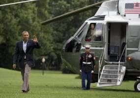 President Obama Visiting The Newlyweds At Their New halaman awal