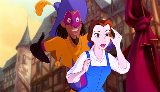 Clopin showing Belle a whole new world