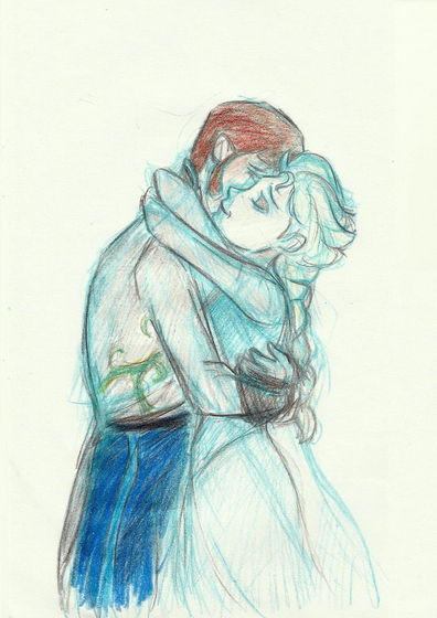 Hans x Elsa ~ Helsa (artwork drawn bởi mustachecat11 on deviantart)