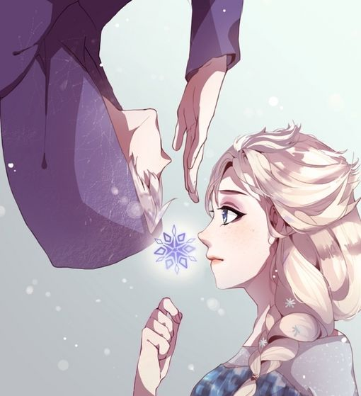 Jack Frost and Elsa ~ Jelsa (artwork done bởi theyumi on deviantart)