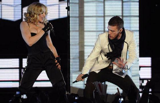 Madonna & Justin performing Live