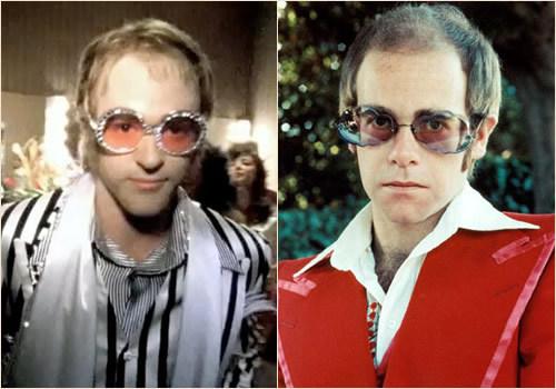 Left is Justin, right is Elton John