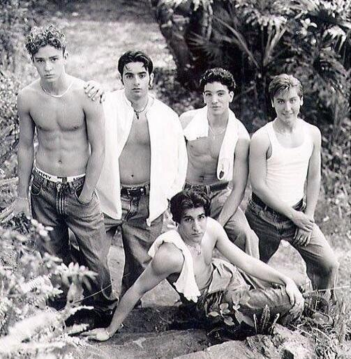 From left Justin, Chris K., JC Chasez, Lance Bass and Joey Fatone