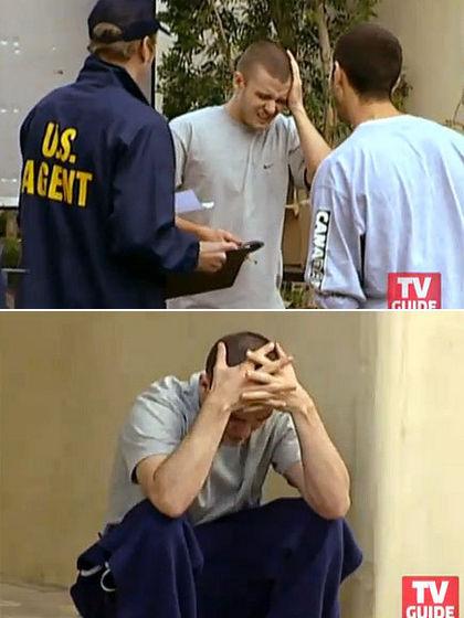 "Justin on TV's Celebs prank show ""Punk'd"""