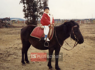 when Hyun Joong ride the hourse at the age of five