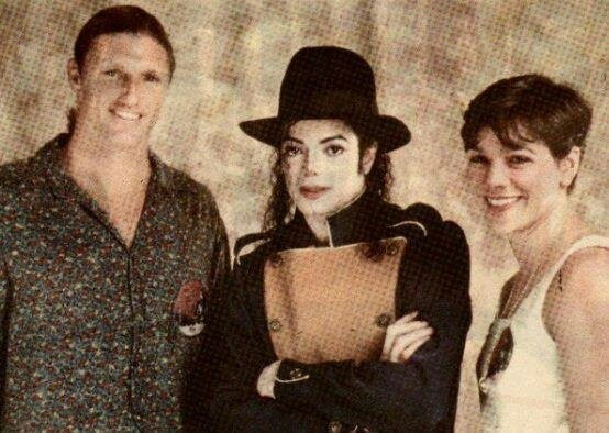 Michael With His Fans