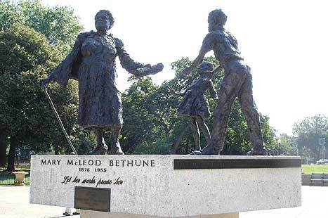 The Couple In Washington, D.C. Visiting The Statue Of Marry McCleod Bethune In Lincoln Park