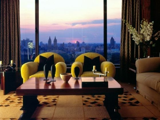 The Living Room At The Couple's Penthouse In New York City