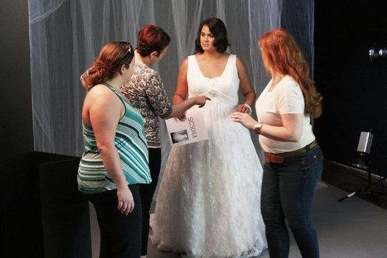 Maris Being Fitted For Her Wedding Dress