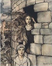 Maid Maleen سے طرف کی Arthur Rackham