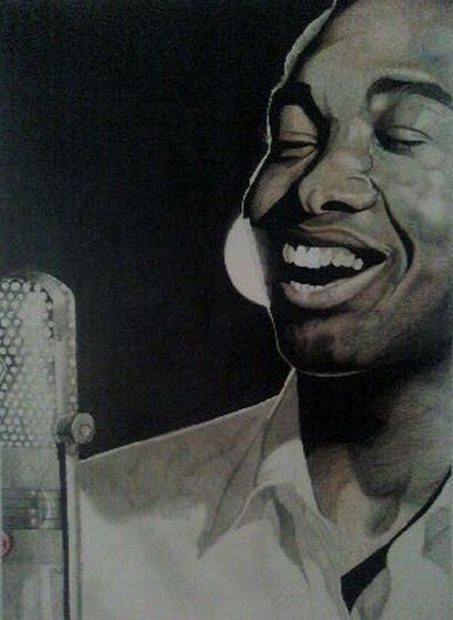 A Painting Of Sam Cooke दिया To Michael From Maris