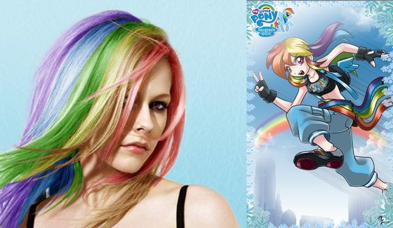 Avril and Rainbow