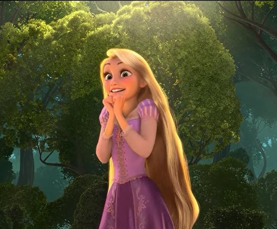 Rapunzel is happy about getting best picture