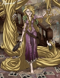 Best bức ảnh of last week was Rapunzel who gave us a spine shivering evil version of herself