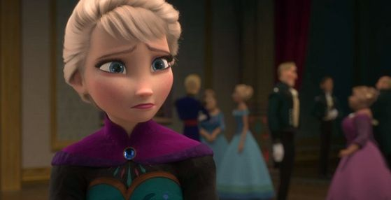 Elsa is sad about Anna leaving