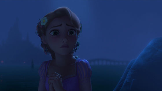 Rapunzel is unhappy about her picture