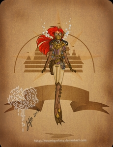 Ariel earned best picture by stunning the judges with this very high fashion re-interpretation of steam punk