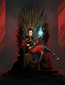 Come on, we all know Azula would really win! (art por kissyushka)
