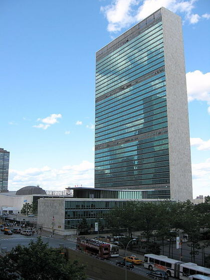Michael And Maris Taking A Tour Of The United Nations Building