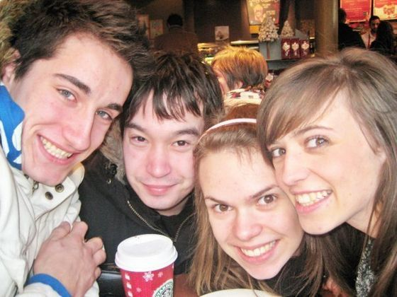 In London, December 2009. J.J. and his Friend Chris had flown over to meet up with Katya and Anya Allison.