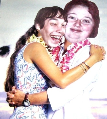 Humor is very important to J.J., here pictured in a Made-Up picture with best friend Gitte.