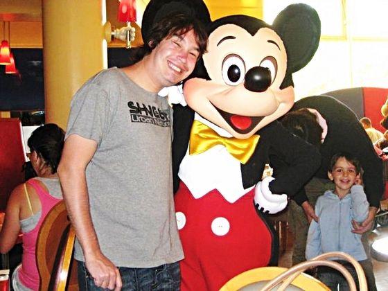 In June 2010, J.J. met one of his biggest Idols in Disneyland Resort Paris.