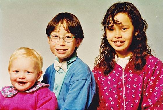Little Sister Joan, Jørgen and Big Sister Johanne.