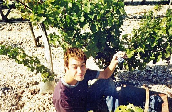 Picking berries in France, September 2003.