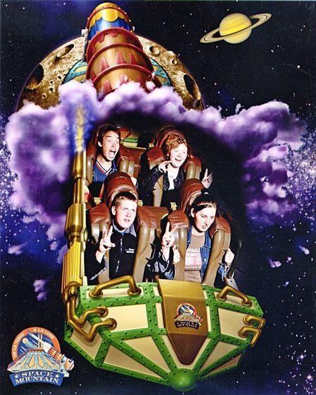 Trying Space Mountain @ DisneyLand Resort, Paris, September 2003.