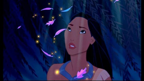 Pocahontas in confessional (She looks stunning in this image BTW)