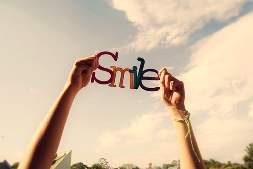 Brighten up the world with your smile:))