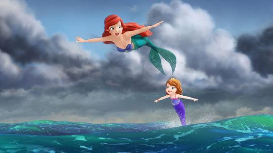Princess Ariel and Princess Sofia.
