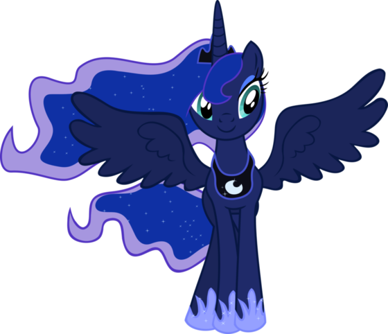 Luna is happy that she and Blue have a filly of their own!