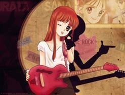 Rocking guitar, gitaa