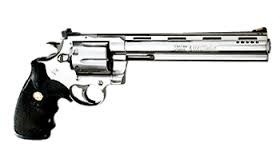This is the .44 magnum. It's the most powerful handgun in all of Equestria, and it could blow your head clean off. Do toi feel lucky?