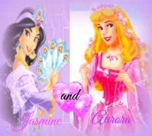 My top, boven two favoriete princesses.