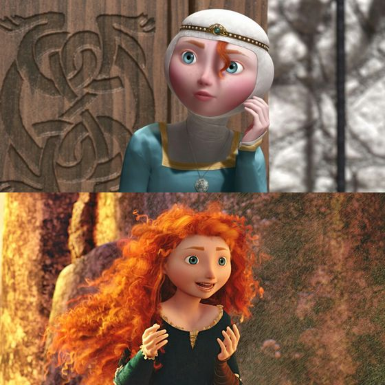 Yeah, Merida, you're happy aren't you? Step into the open air and touch the sky, my noble maiden fair. Ok these captions are getting really cheesy.