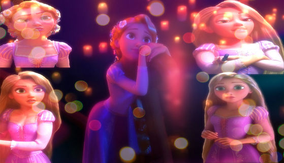 Rapunzel is pretty in cute way, but not georgous like the others here.- cruella