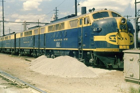 These engines were borrowed from another railroad, and were pulling the freight train Gordon accidentally got onboard.