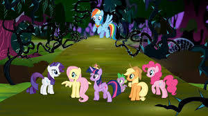The Mane Six in the Everfree Forest