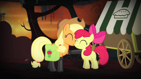 Applebloom and Applejack