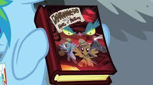 Rainbow Dash on the book cover
