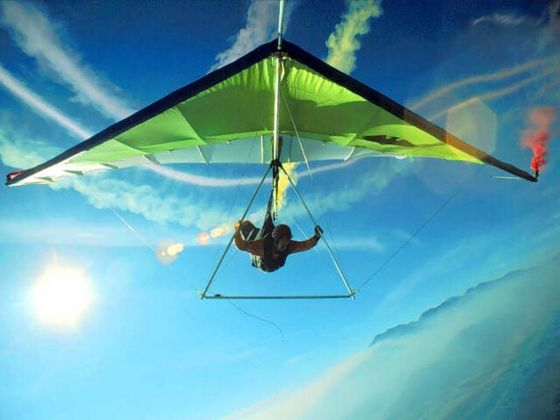 Wondergist's newest contraption a.k.a. Hang Glider