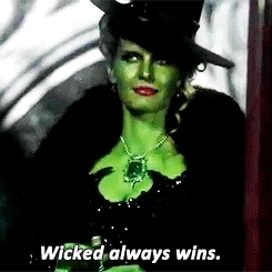 Zelena sure does know how to make an entrance....
