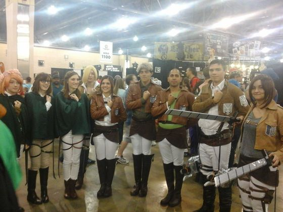 Multiple Attack on Titan cosplayers (This didn't even begin to cover all the SnK cosplayers I saw)