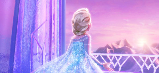 Simply expresses Elsa letting go of her fear, and unraveling the beauty that she has found in her magic for many years.
